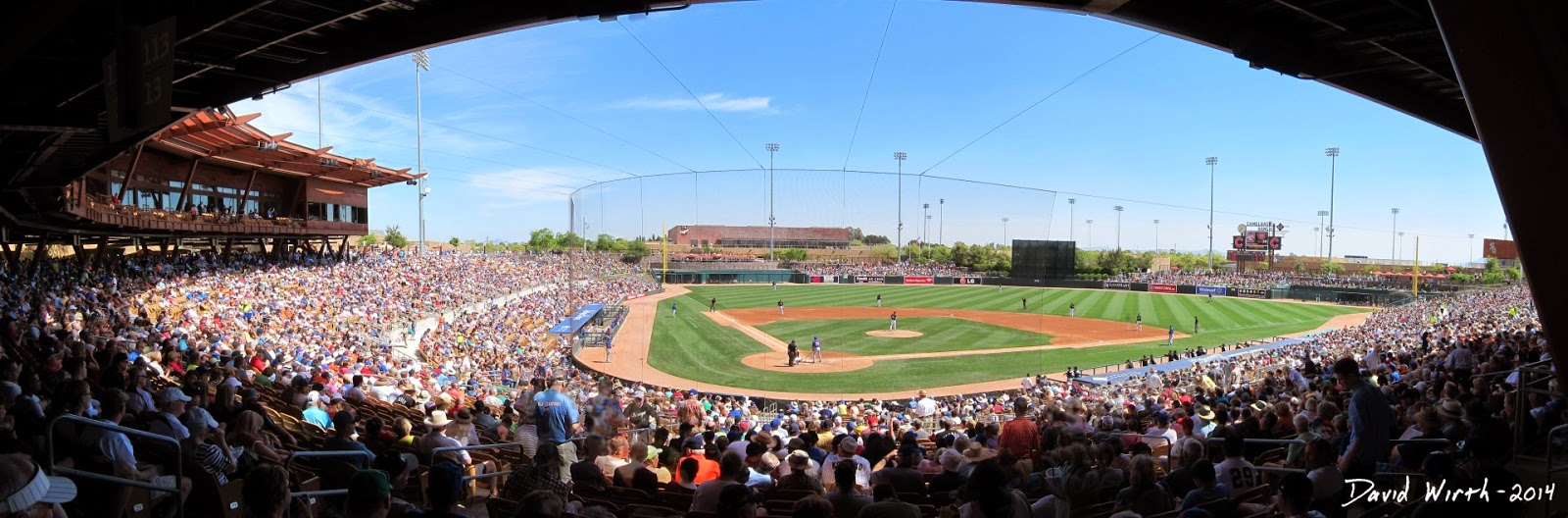 panorama baseball stadium
