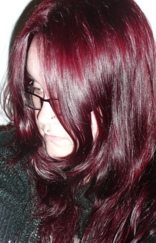 Loreal Hicolor Deep Auburn Red After using l'oreal hicolor