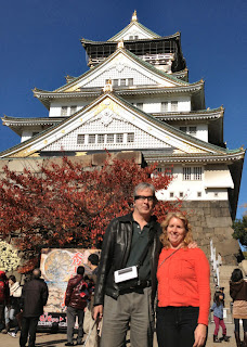 Mike and Gena in front of the Osaka Castle