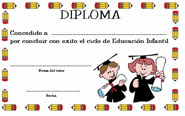 Graduación de Educación Infantil: Diplomas, poemas, dibujos para