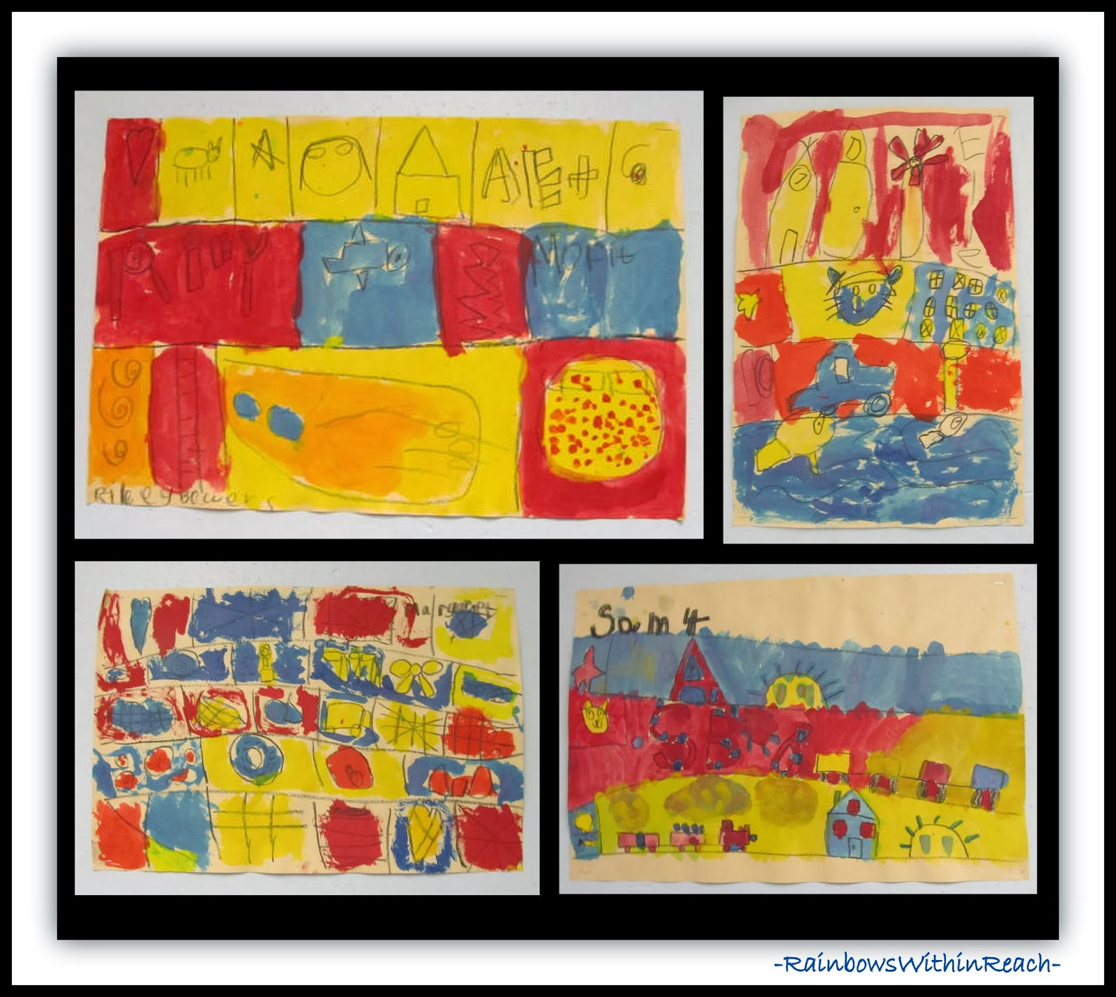 Joaquin Torres-Garcia Painting Responses in Primary Colors at RainbowsWithinReach