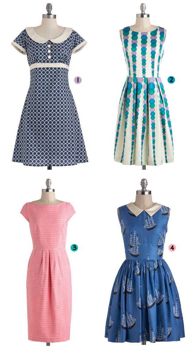 vintage style dresses from modcloth