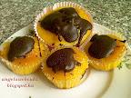 Narancsos muffin 2 recept, étcsokoládéval lecseppentve.