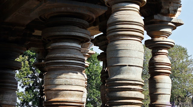 Pillars of the Nandi Mantapa 1