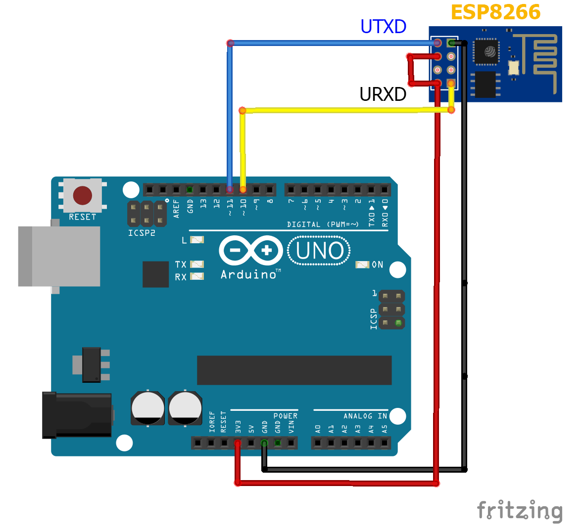 Esp8266 Pin Urxd To Arduino Pin11   Tx1