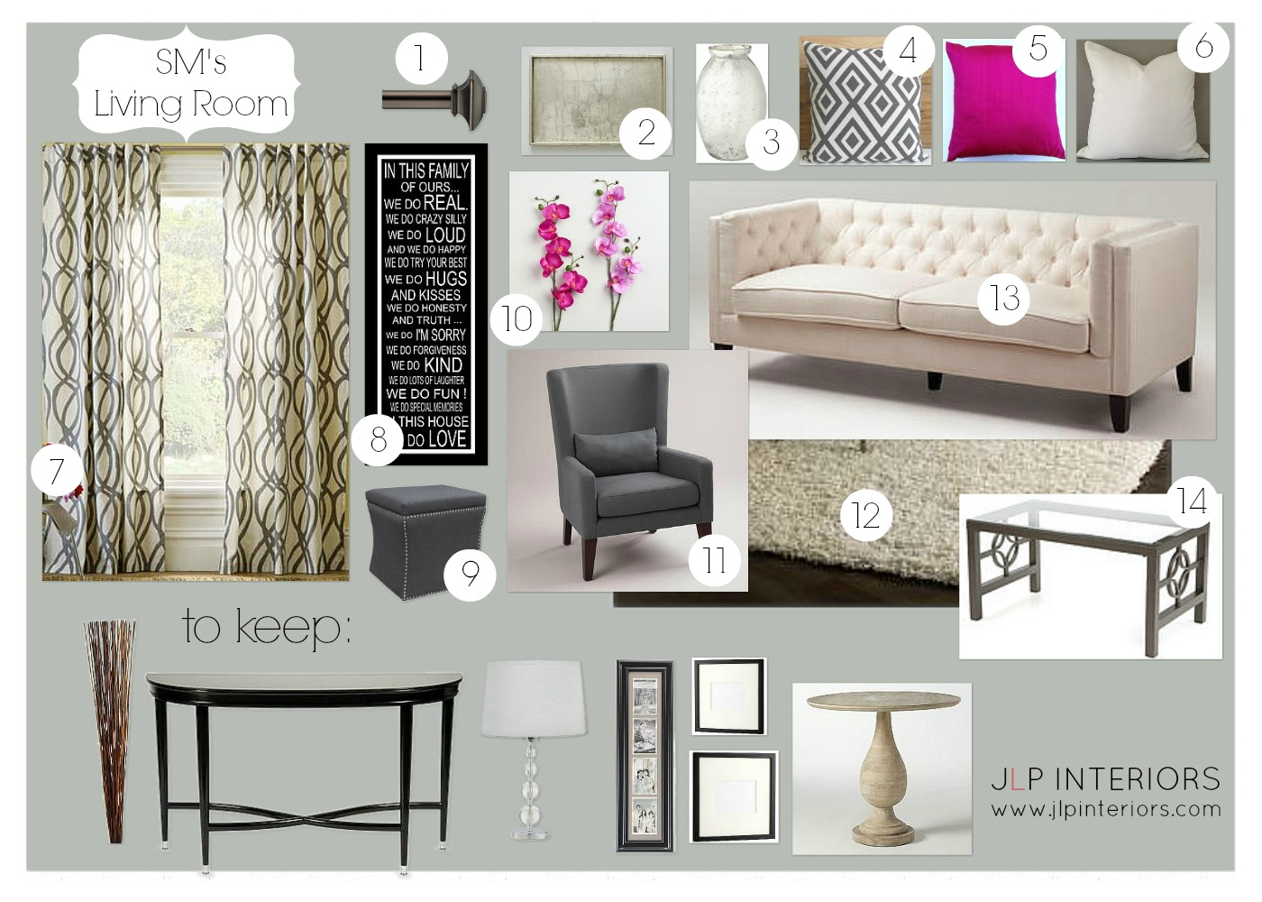 Home with Baxter: E-Design: SM\'s Formal Living Room