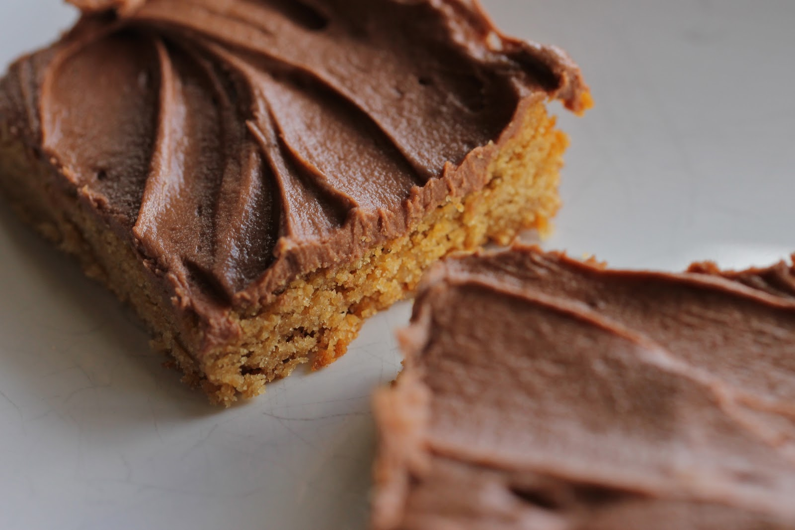 Cookie Jar Treats: Peanut Butter Blondies with Milk Chocolate Frosting