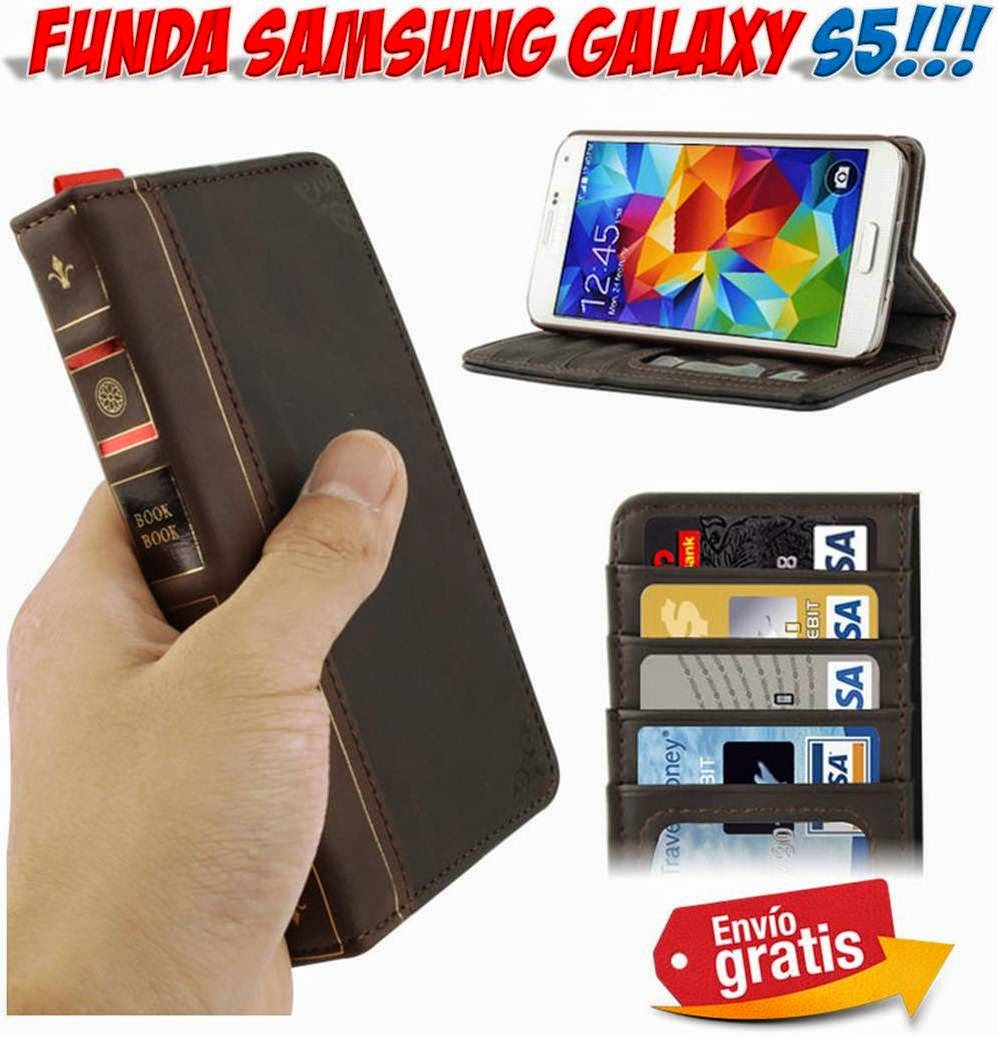 Regalos y gadgets originales y baratos fundas m viles samsung galaxy s5 libro antiguo bookbook - Fundas baratas para moviles ...