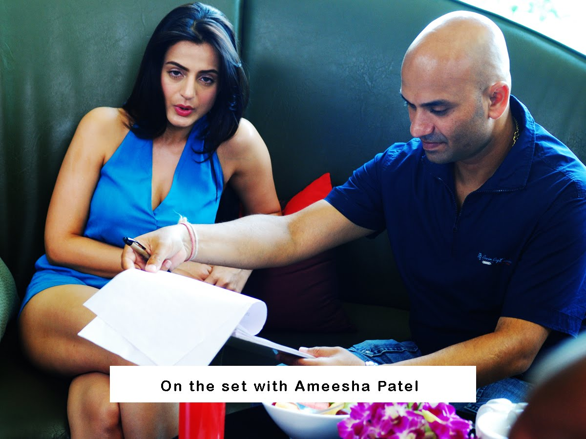 On Sets Ameesha Patel