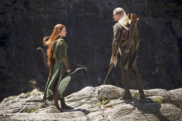 """Evangeline Lilly y Orlando Bloom en """"El Hobbit: La Desolación de Smaug"""""""