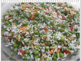 Bezelyeli Prinç Salatası