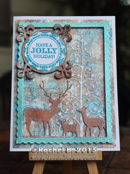 Holiday Card, Impression Obsession, Memory Box, Hero Arts,Spellbinders