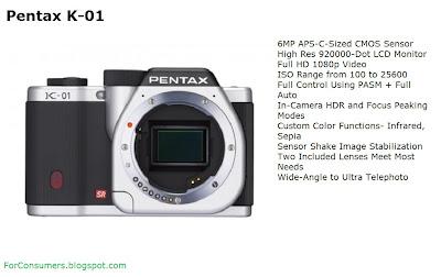 Pentax K-01 silver