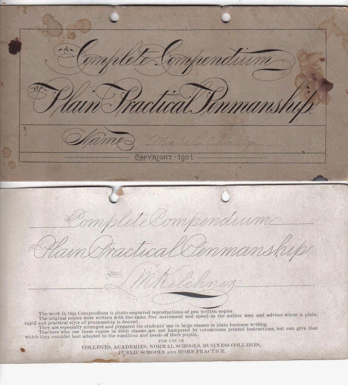 A complete compendium of plain practical penmanship (L. M. Kelchner)
