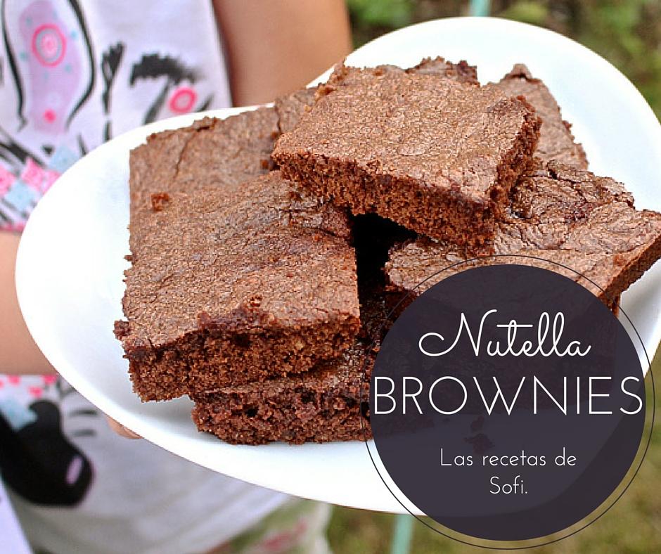 Receta Brownies de Nutella. 3 Ingredientes.