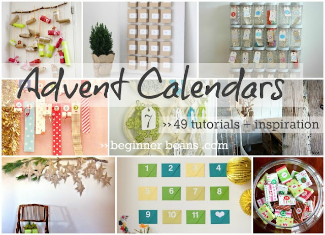 round-up of 49 diy advent calendar ideas