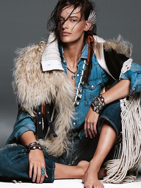 vogue australie,photoshooting,pocahontas,wild,amérindien,mode,greg kadel,amanda murphy