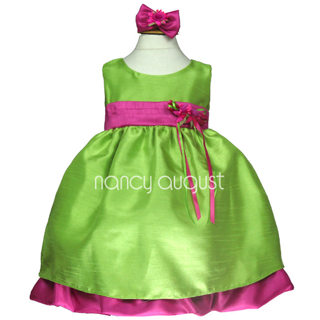 Bridal bees blog on flower girls beyond april 2012 for the young lady with whimsical charm and a cheerful personality this bright green baby dress is the one the classic sleeveless bodice and full mightylinksfo Gallery