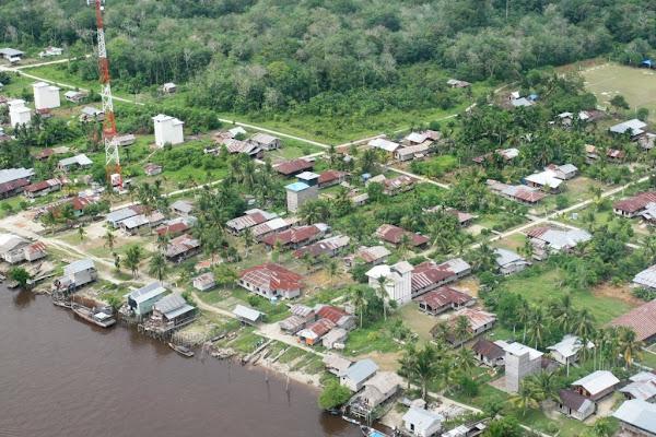 Teluk Meranti, Wajah kota  Kabupaten Pelalawan dari udara