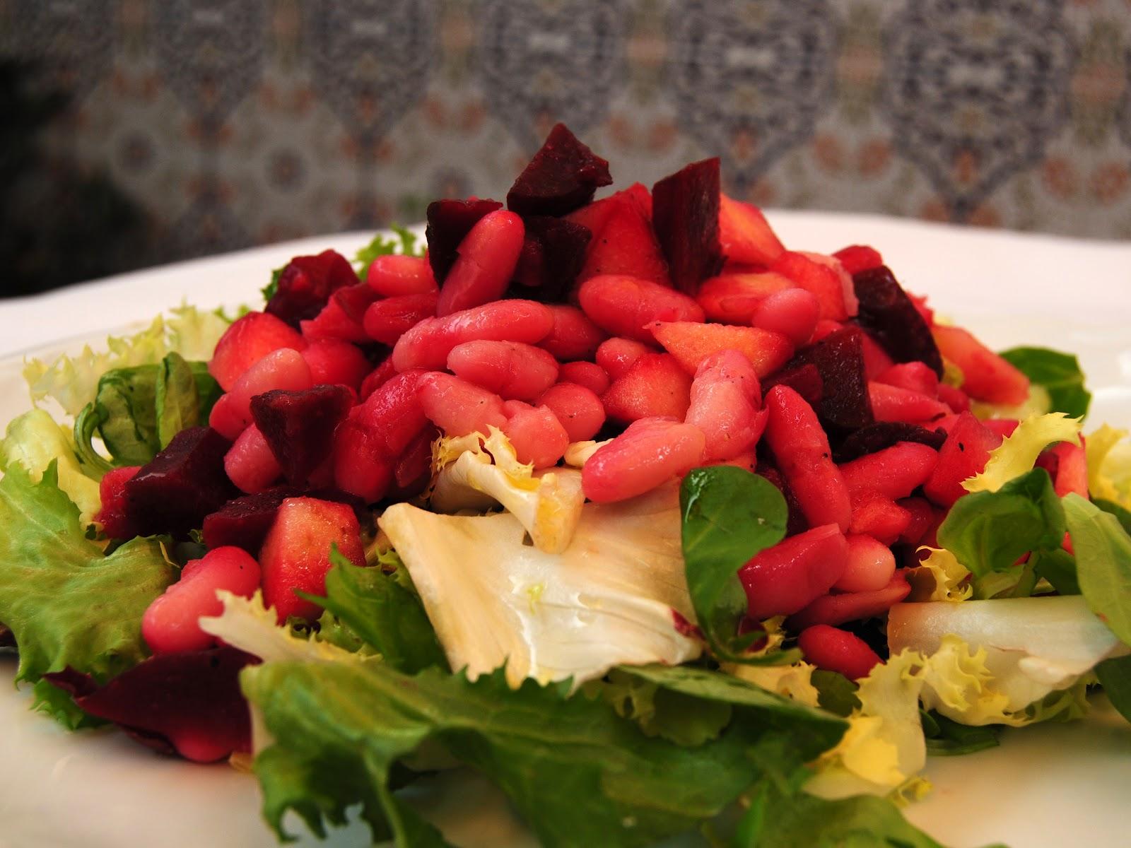 Ensalada de Remolacha con Judías y Manzana (Buriakov salat