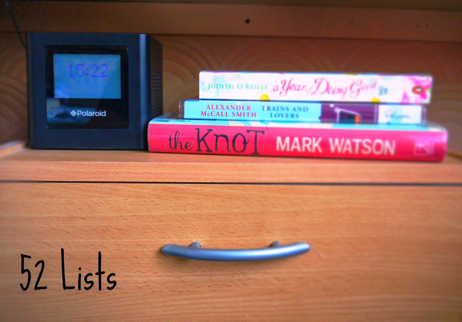 52 Lists - Things Beside My Bed