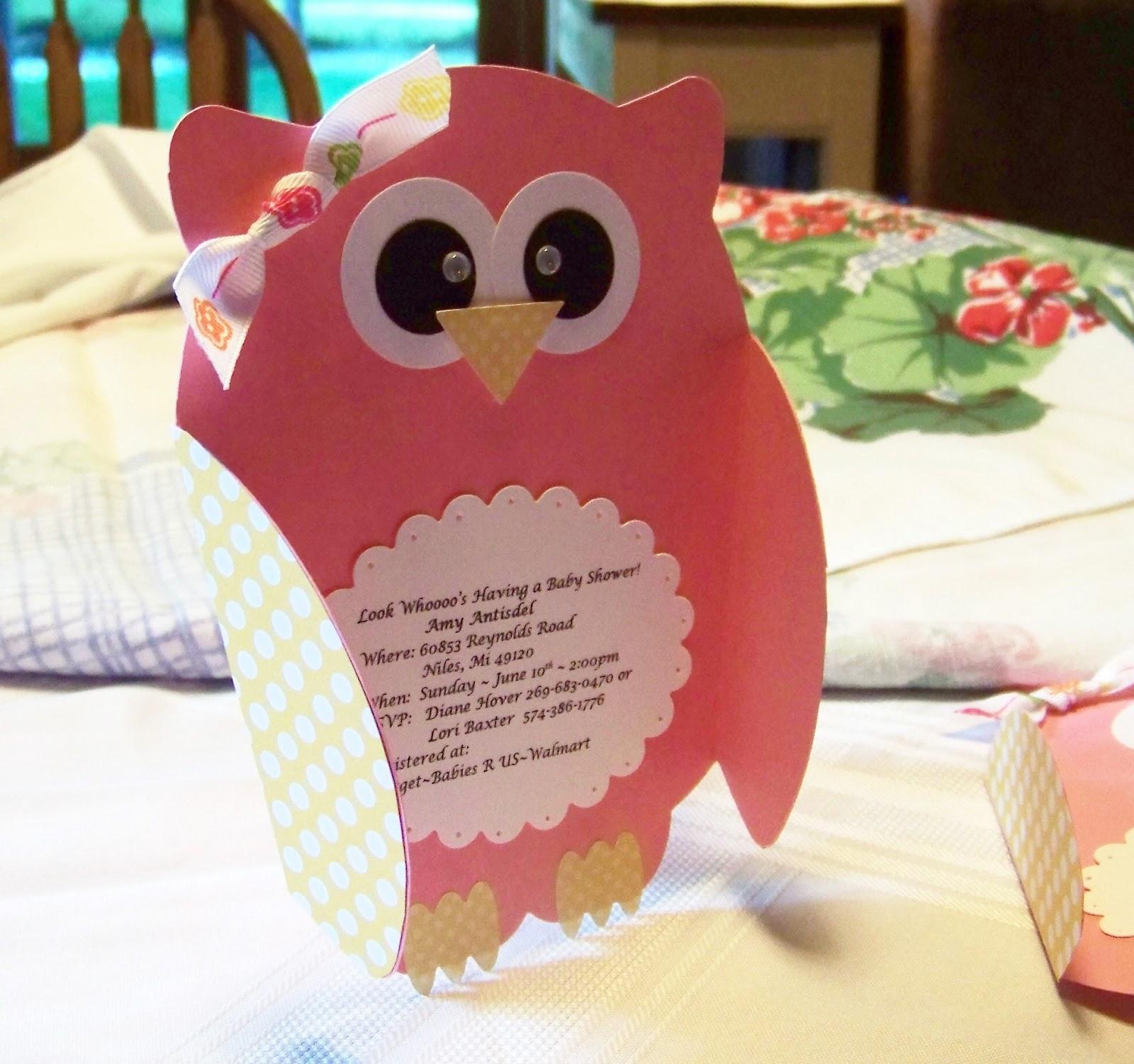Nellies Nest: Little Owl Invites