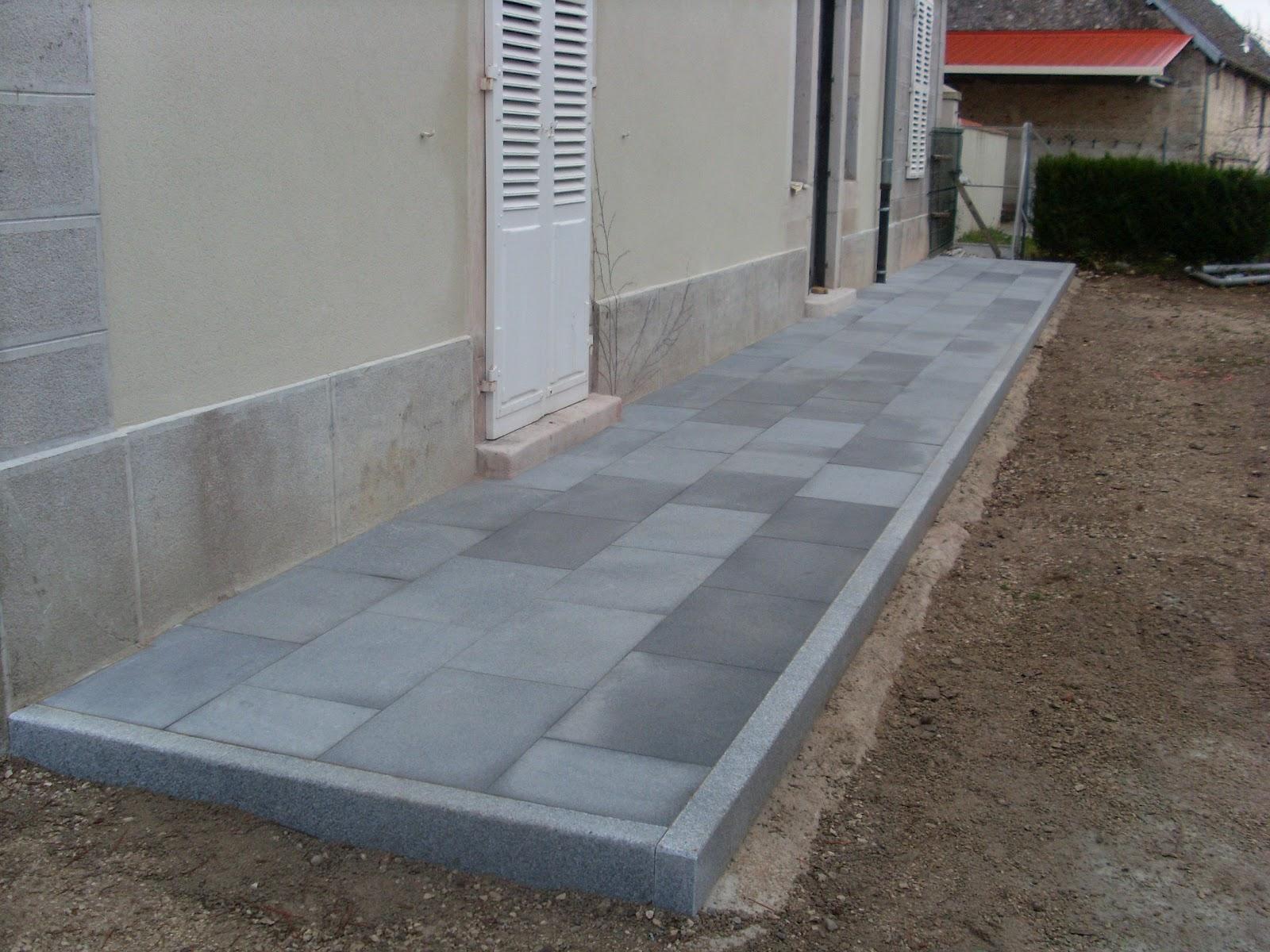 Hervier paysages dalles et bordures granit - Dalle en granit pour terrasse ...