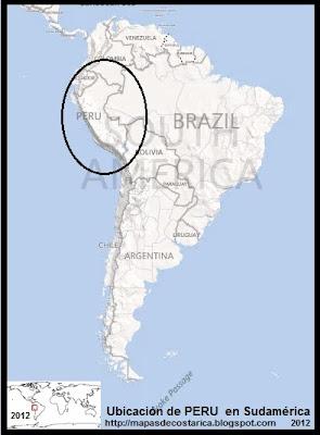 Ubicación de PERU en Sudamérica, BING