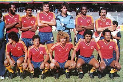Selección colombiana que disputó la repesca mundialista en 1985