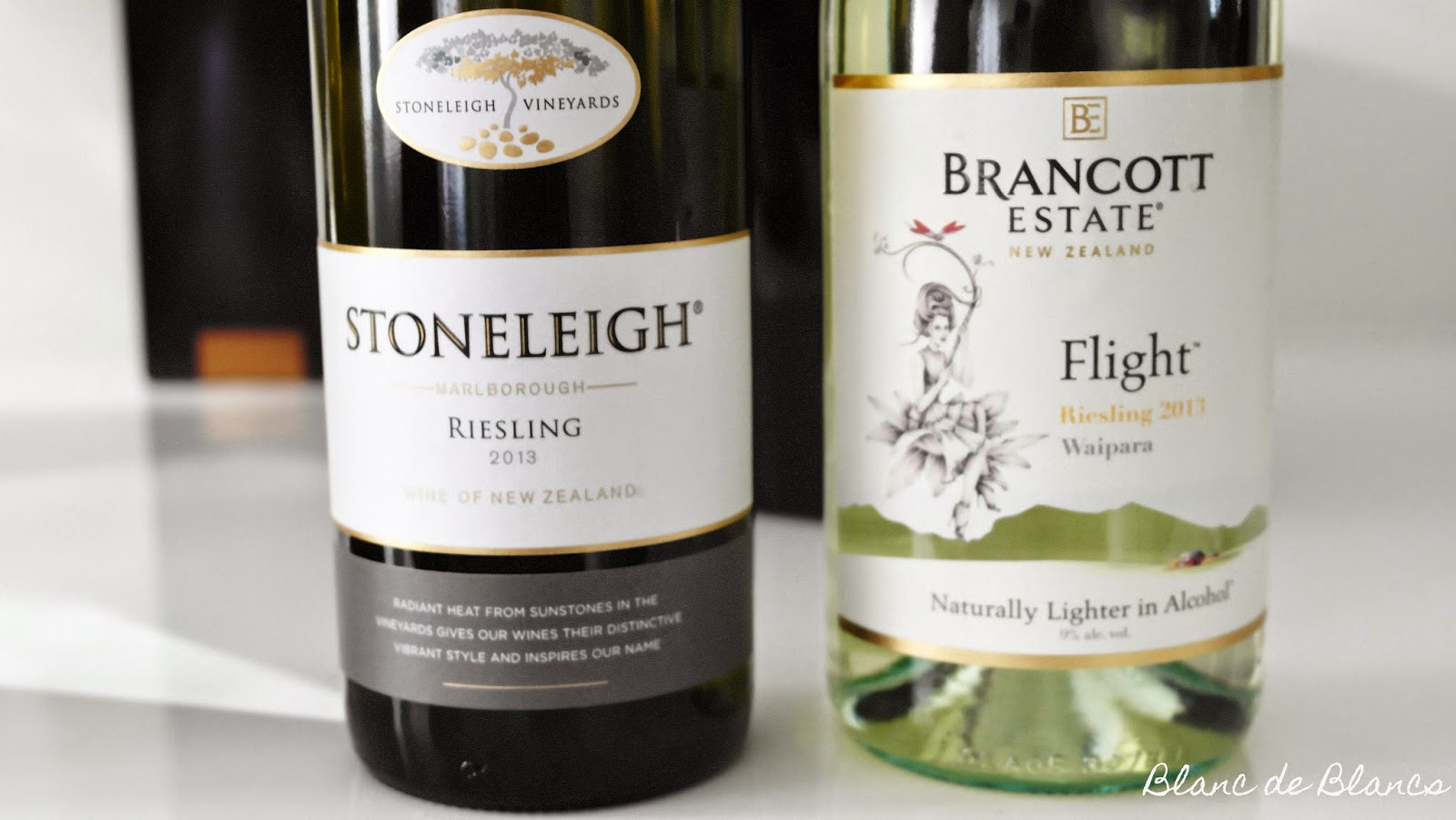 Stoneleigh Vineyards Riesling ja Brancott Estate Flight Riesling - www.blancdeblancs.fi