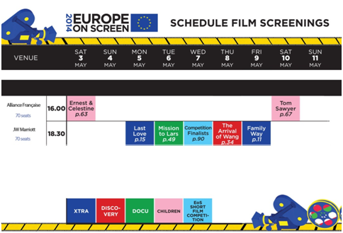 Program acara Europe on Screen 2014