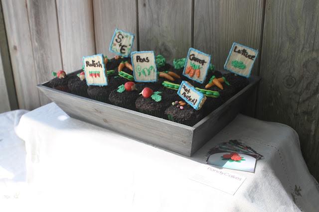 Wedding Vegetable Garden Theme Cupcakes