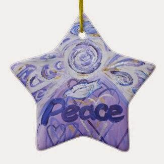 Peace Angel Word Ornament