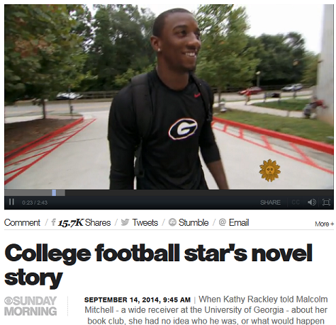 "CBS News.com - ""College football star's novel-story"""