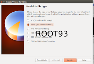 Membuat file vmdk menggunakan virtual box