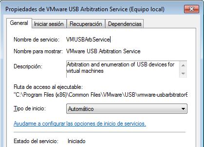 VMWare usbarbitrator
