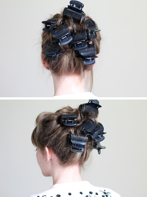 How to curl your ponytail with hot rollers