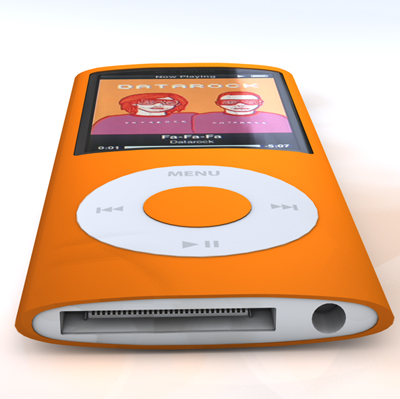 mobile mania ipod nano 4th generation orange. Black Bedroom Furniture Sets. Home Design Ideas