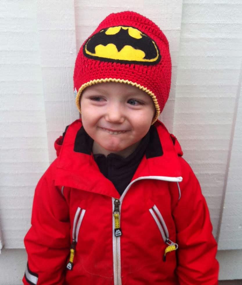 crochet hat beanie free patern batman