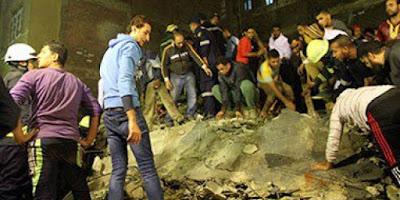 انهيار كامل ثلاث منازل وانقاذ الارواح بمنطقة امبابه