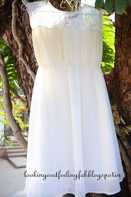 win white lace dress
