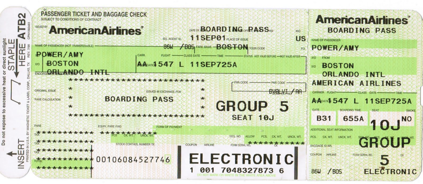 how to send american airlines boarding pass to passbook