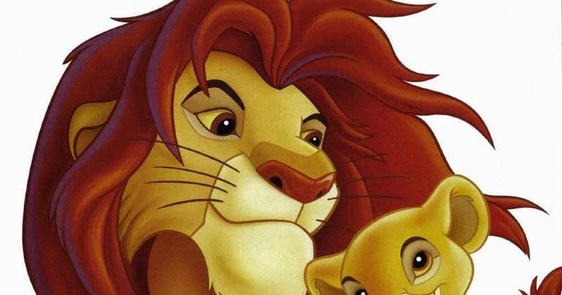Cuentos infantiles: El rey león para colorear. Dibujos para imprimir.
