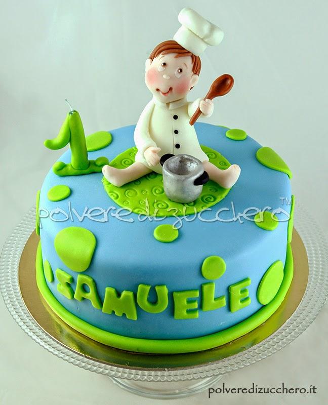 torta decorata 1° compleanno bimbo: il piccolo cuoco e ricetta torta tradizionale inglese