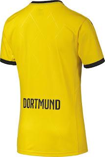 gasmbar desain trerbaru musim depan Jersey Borrusia Dortmund home Bagian belakang liga eropa musim 2015/2016 di enkosa sport toko jersey terpercaya