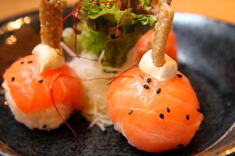 Sake Salmon Sushi Balls Yumi Japanese Restaurant Greenhills