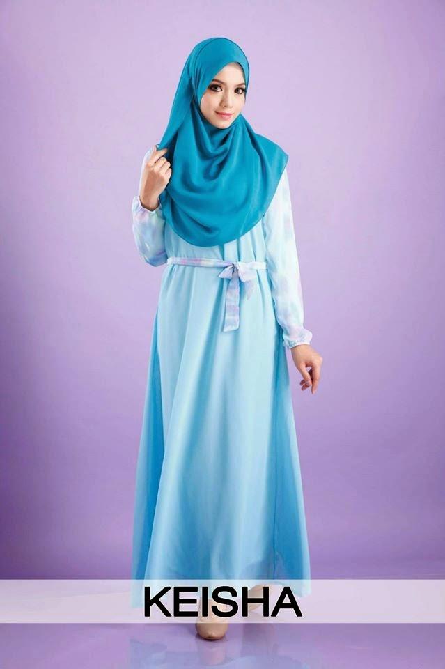 Jubah dress princess cut plus size