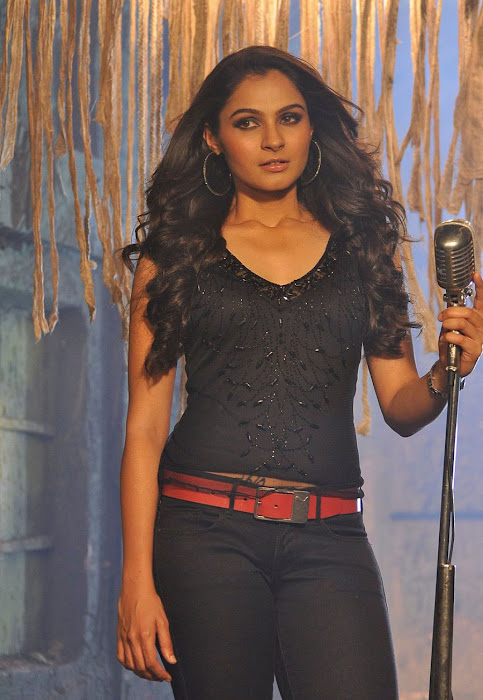 andrea in black unseen actress pics