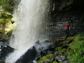 Stood behind Ashgill Force in the North Pennines