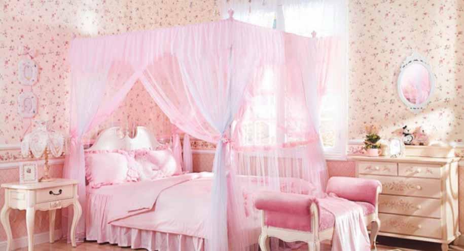 foto desain kamar tidur anak cewek simple warna pink